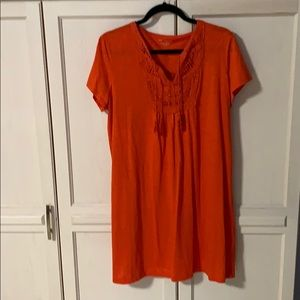 Orange cotton dress in XL